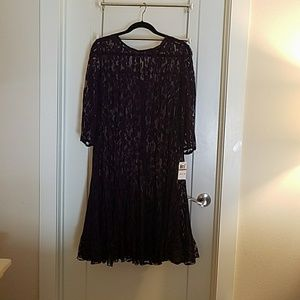 Never worn lace dress. Missing slip.